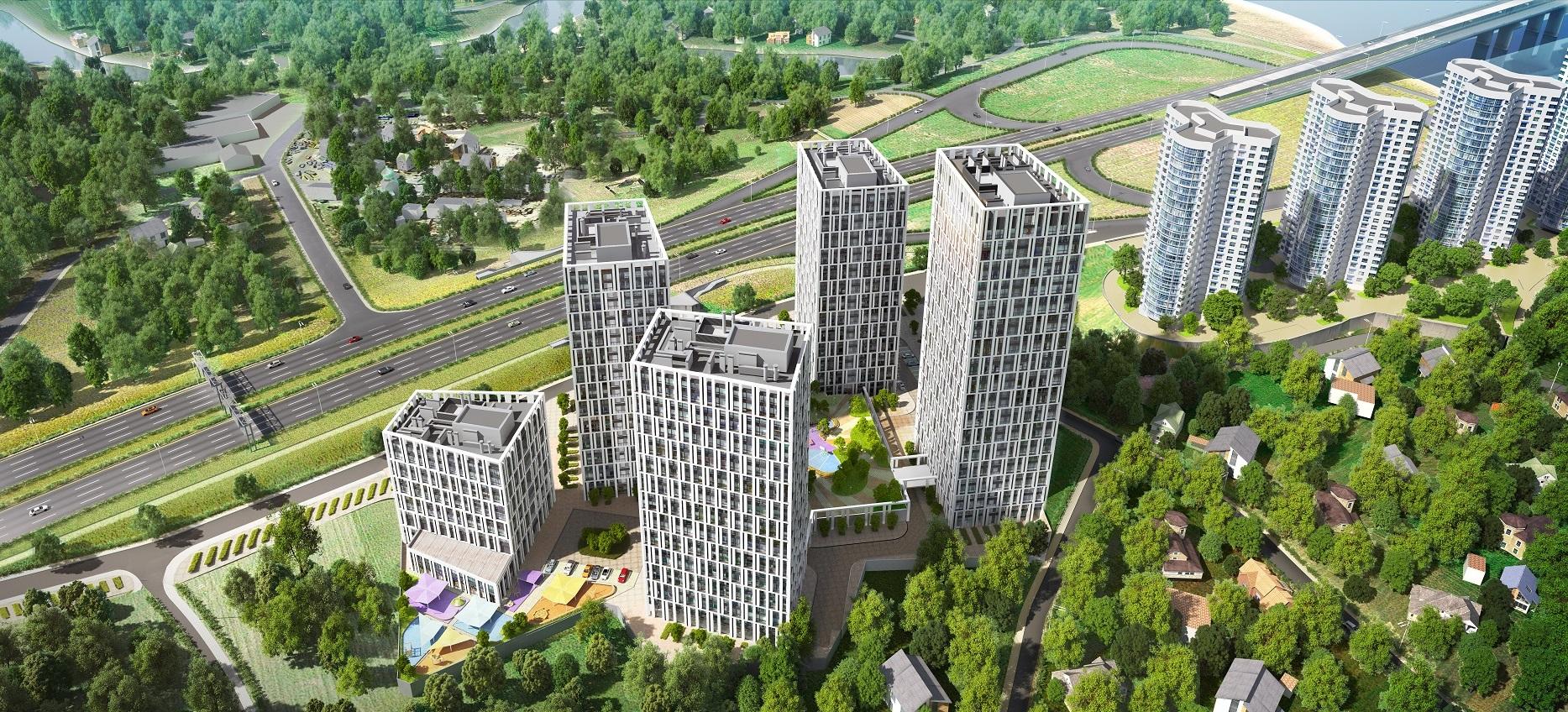 Жилой комплекс Славутич_панорама 2