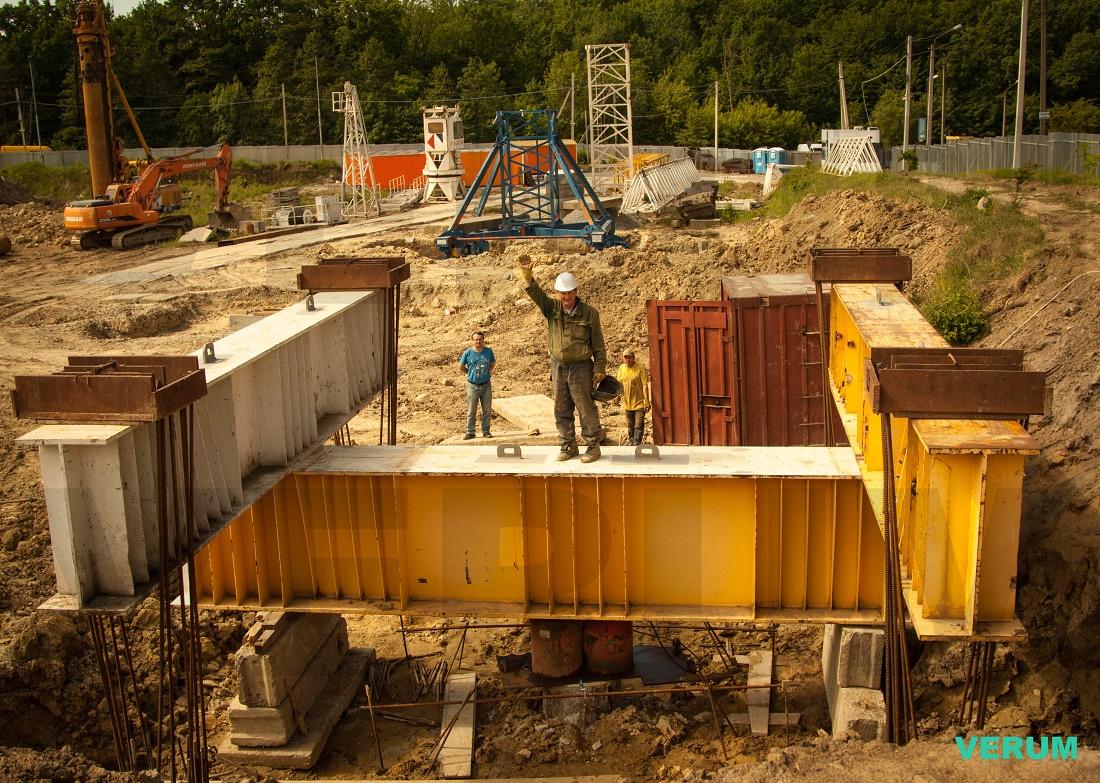 Статические испытания на 900 тонн компанией Верум