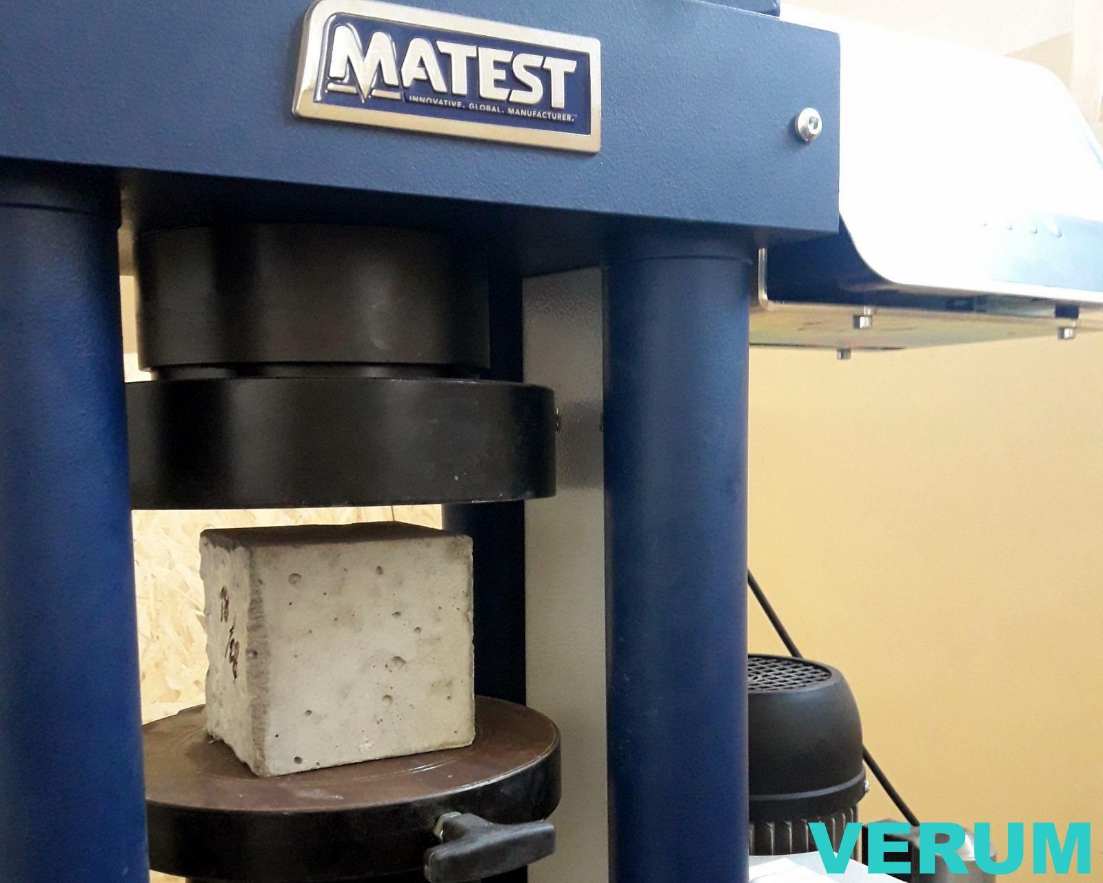 Вибпробувальний прес MATEST 1500kH лабораторії Verum